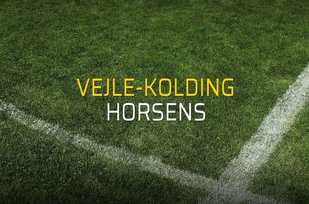 Vejle-Kolding: 3 - Horsens: 1 (Maç sonucu)