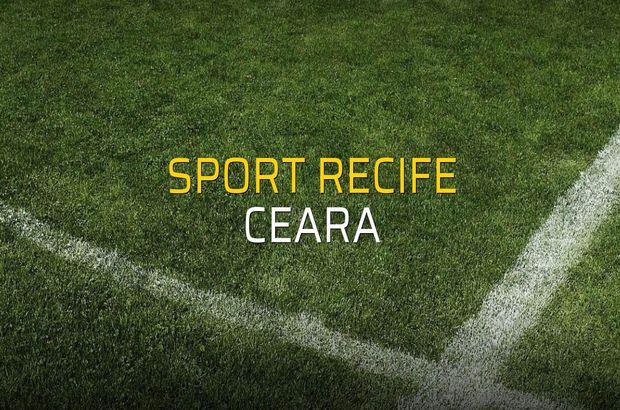 Maç sona erdi: Sport Recife: 1 - Ceara:0