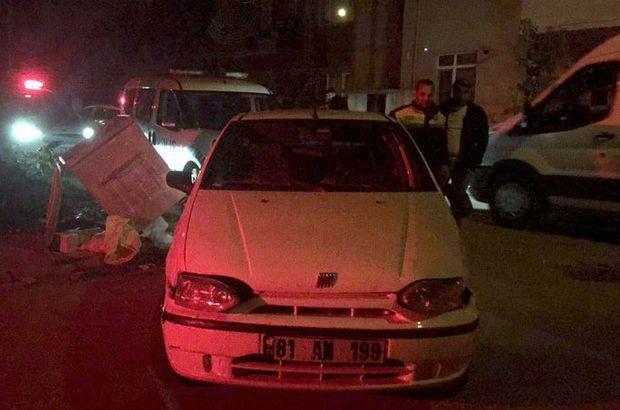 Alkollü sürücü kaçarken sivil polis otosuna çarptı
