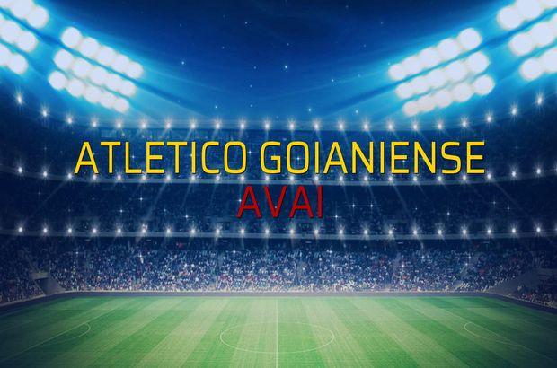 Atletico Goianiense - Avai sahaya çıkıyor