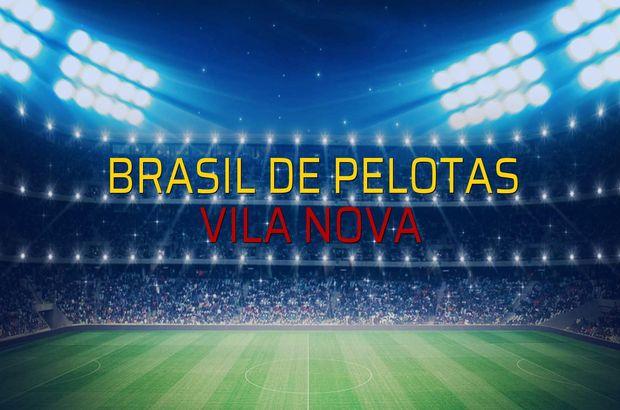 Brasil De Pelotas - Vila Nova karşılaşma önü