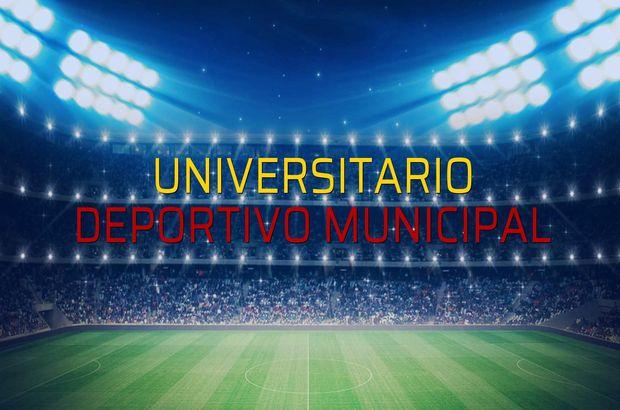 Universitario - Deportivo Municipal maçı öncesi rakamlar