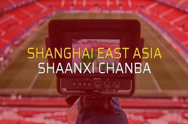 Shanghai East Asia - Shaanxi Chanba maçı istatistikleri