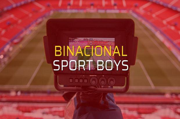 Binacional - Sport Boys maçı öncesi rakamlar