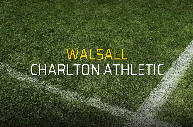 Walsall: 0 - Charlton Athletic: 2
