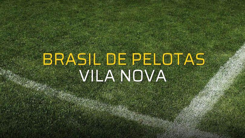 Maç sona erdi: Brasil De Pelotas: 0 - Vila Nova:0
