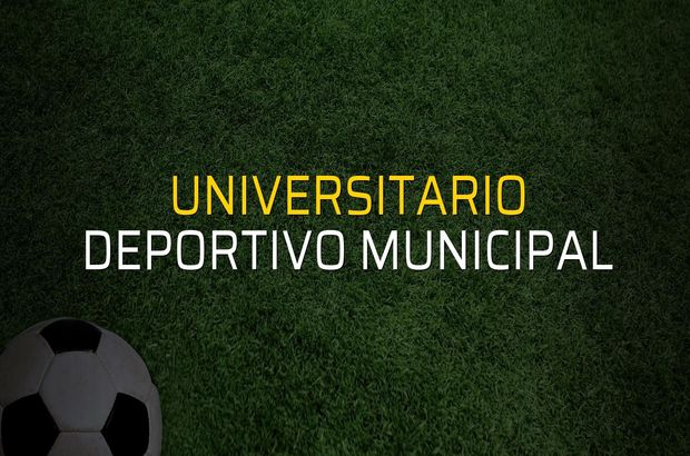 Universitario: 1 - Deportivo Municipal: 2