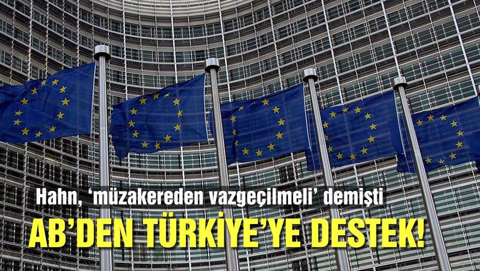 AB'den Türkiye'nin üyelik sürecine destek!