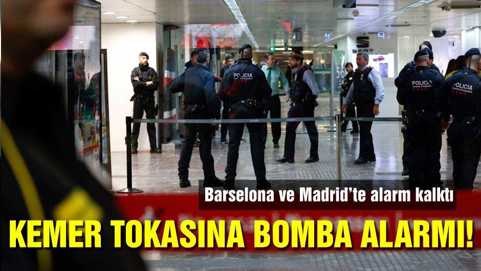 İspanya'da kemer tokasına terör alarmı!