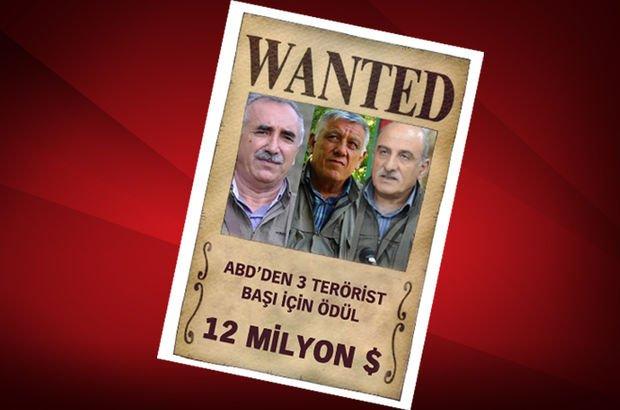 3 terörist için 12 milyon dolar!