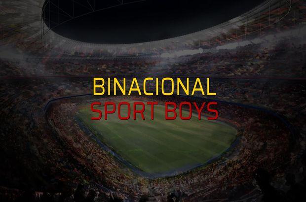 Binacional: 2 - Sport Boys: 1 (Maç sona erdi)
