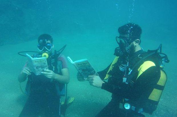 denizin altında kitap,
