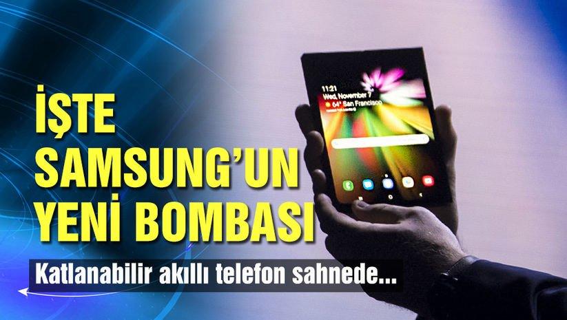 Samsung'un katlanabilir telefonu göründü