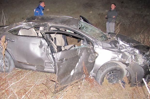 Kontrolden çıkan otomobil baraja uçtu