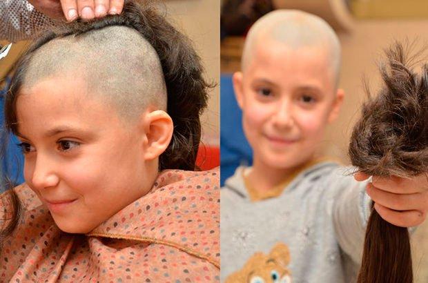Lösemili çocuklar için saçlarını bağışladı