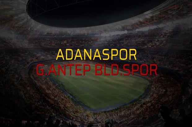 Adanaspor - G.Antep Bld.Spor rakamlar