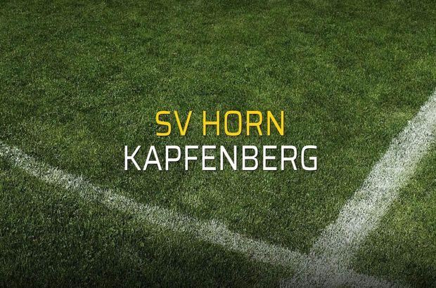 SV Horn - Kapfenberg sahaya çıkıyor