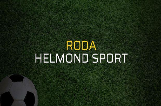 Roda - Helmond Sport sahaya çıkıyor