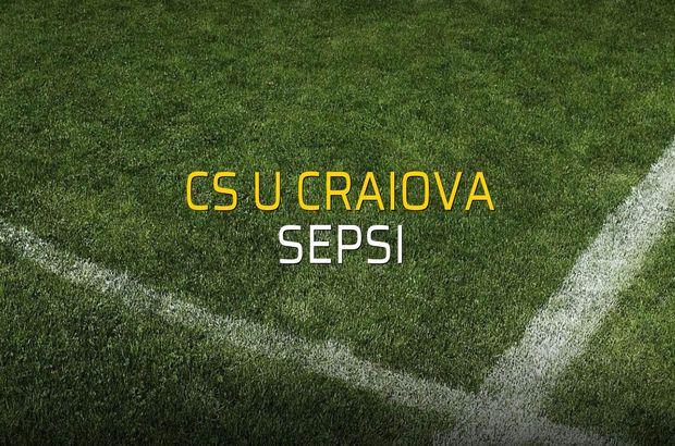 CS U Craiova - Sepsi rakamlar