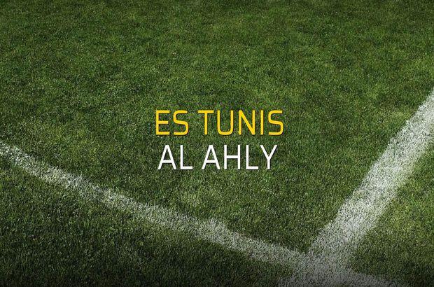 ES Tunis - Al Ahly maçı istatistikleri