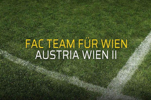 Maç sona erdi: FAC Team für Wien: 0 - Austria Wien II:0