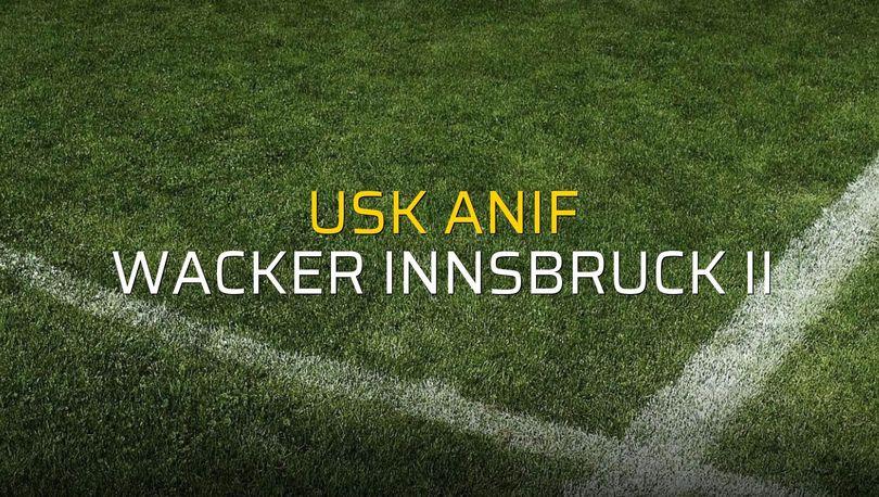 Maç sona erdi: USK Anif: 4 - Wacker Innsbruck II:1