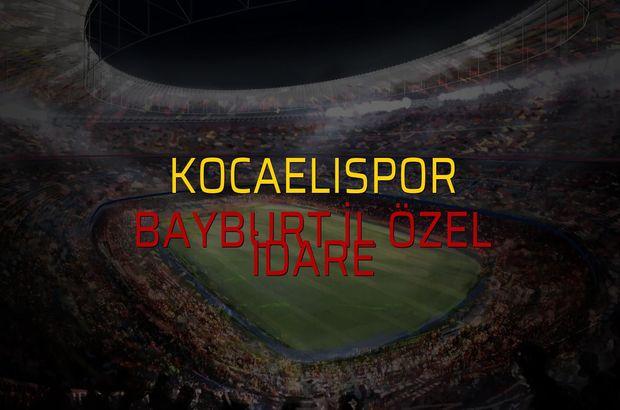 Kocaelispor - Bayburt İl Özel İdare maç önü