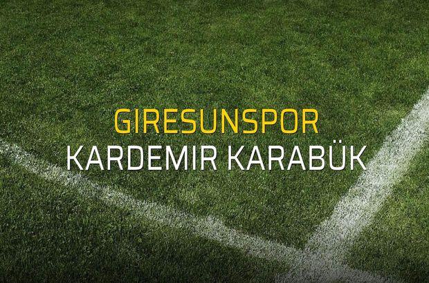 Giresunspor - Kardemir Karabük maçı istatistikleri