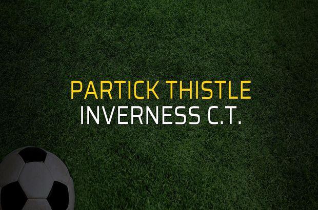 Partick Thistle - Inverness C.T. rakamlar
