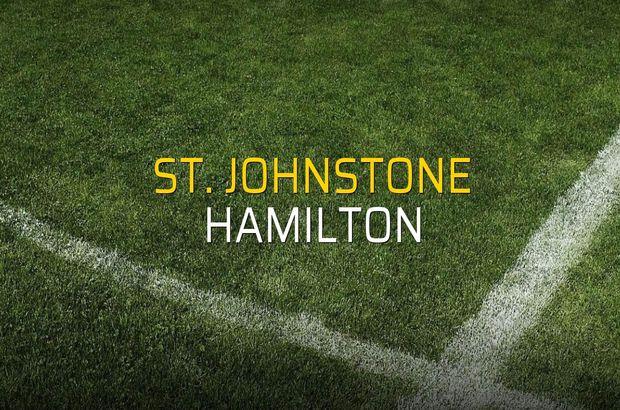 St. Johnstone - Hamilton karşılaşma önü