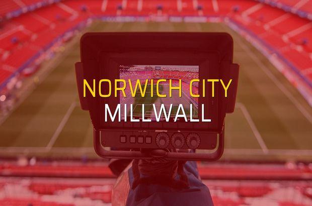 Norwich City - Millwall sahaya çıkıyor