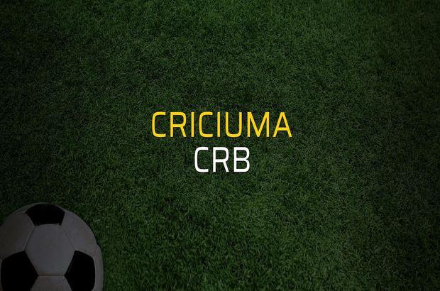 Criciuma - CRB maç önü