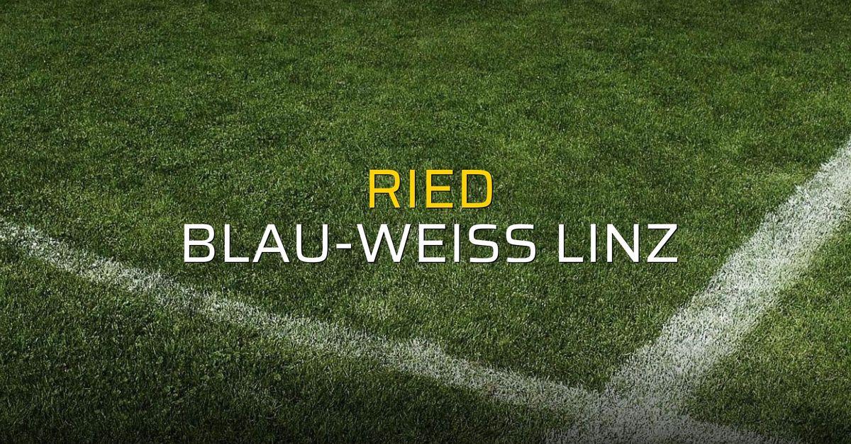 Ried: 1 - Blau-Weiss Linz: 3 (Maç sonucu)