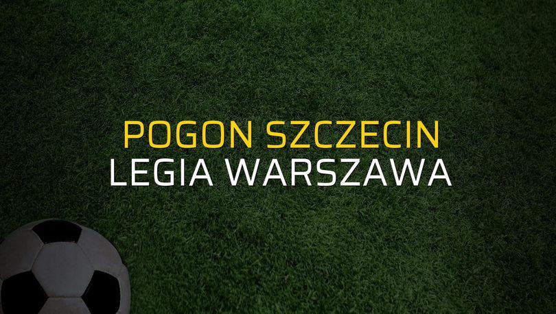 Maç sona erdi: Pogon Szczecin: 2 - Legia Warszawa:1