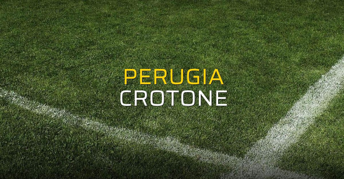 Perugia: 2 - Crotone: 1 (Maç sona erdi)