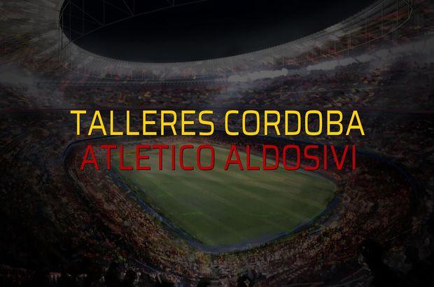 Talleres Cordoba: 0 - Atletico Aldosivi: 0 (Maç sonucu)