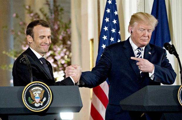 """Trump'tan Macron'a """"AB ordusu"""" tepkisi"""