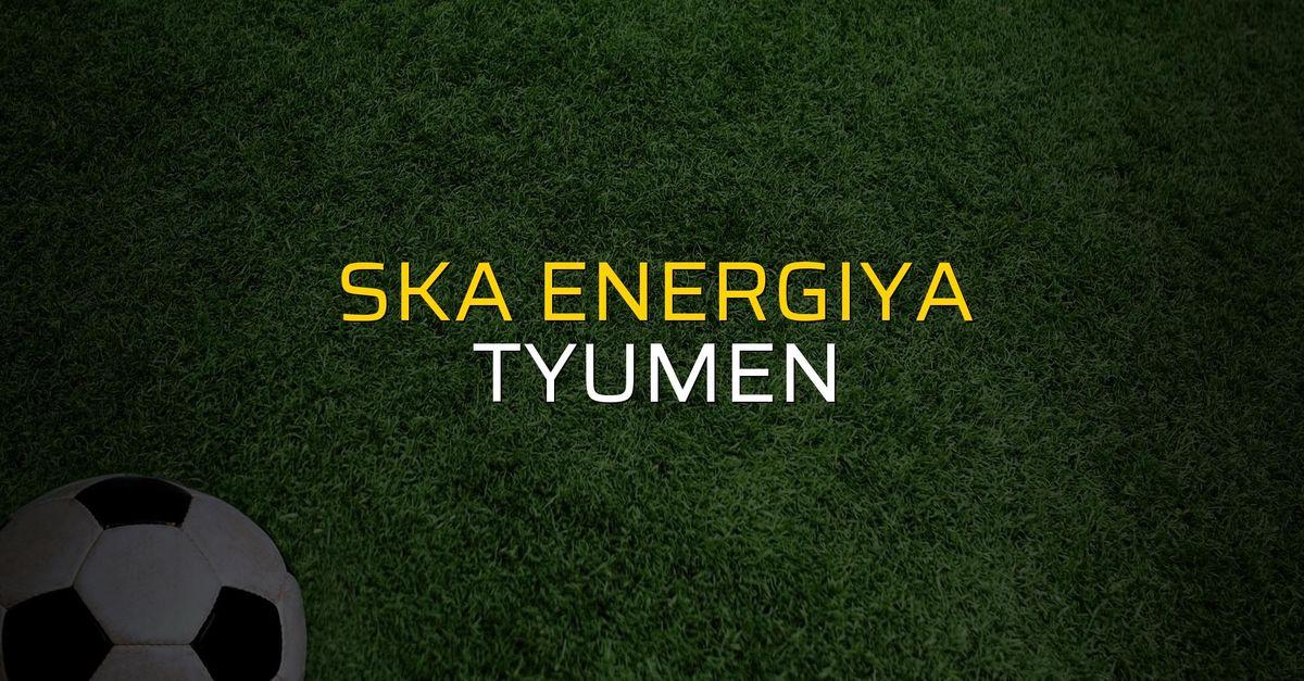 SKA Energiya: 2 - Tyumen: 1