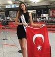 Miss Turkey 2018 birincisi Şevval Şahin, 8 Aralık'ta yapılacak Miss World yarışmasının kampına katılmak üzere önceki gün Çin'e uçtu