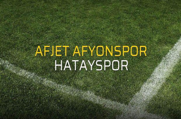 Afjet Afyonspor: 1 - Hatayspor: 2 (Maç sonucu)