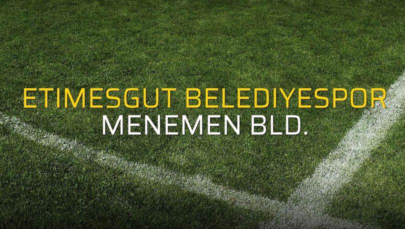Etimesgut Belediyespor: 2 - Menemen Bld.: 2 (Maç sonucu)