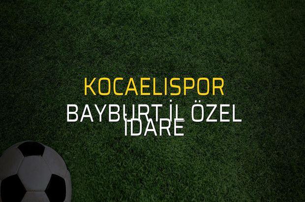 Maç sona erdi: Kocaelispor: 0 - Bayburt İl Özel İdare:0