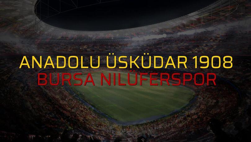 Anadolu Üsküdar 1908: 2 - Bursa Nilüferspor: 2 (Maç sona erdi)