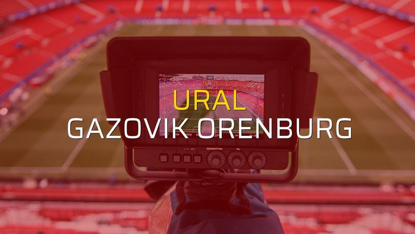 Maç sona erdi: Ural: 2 - Gazovik Orenburg:1