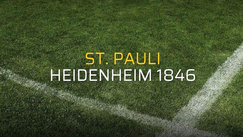 St. Pauli: 1 - Heidenheim 1846: 1 (Maç sonucu)