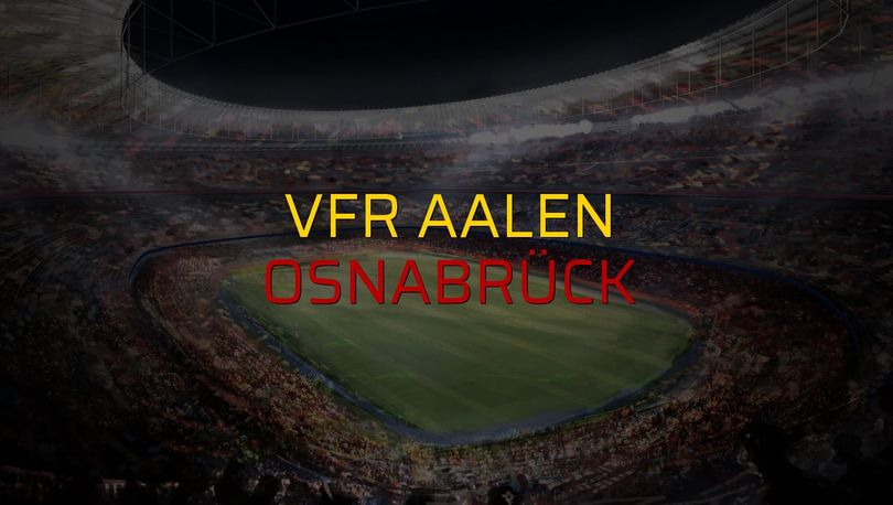 VfR Aalen: 1 - Osnabrück: 1 (Maç sonucu)