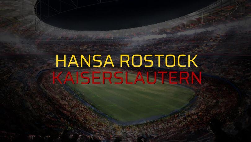 Hansa Rostock: 4 - Kaiserslautern: 1 (Maç sonucu)