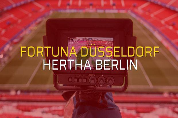 Fortuna Düsseldorf: 4 - Hertha Berlin: 1 (Maç sonucu)