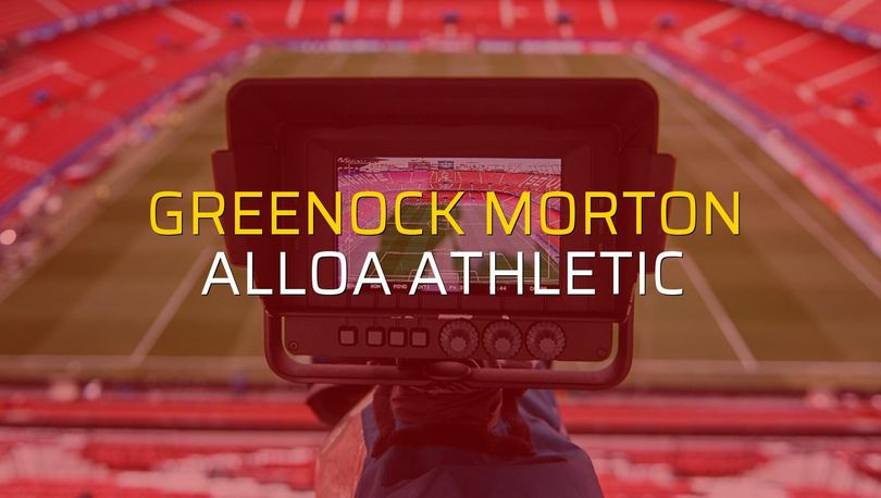 Greenock Morton: 0 - Alloa Athletic: 0 (Maç sonucu)