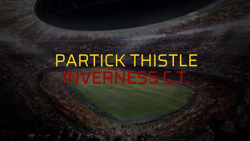Partick Thistle: 0 - Inverness C.T.: 0 (Maç sona erdi)